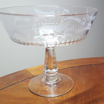 Riverside Glass Works #3 Engraved Compote - Glassware