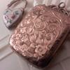 Victorian sterling silver locket & 3 old gold lined lockets