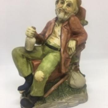 Tired Old Man/Hobo Figurine - Figurines