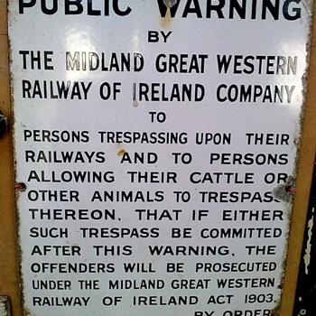 Railway sign.