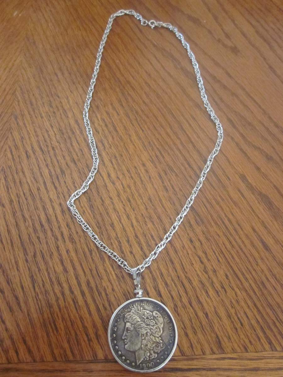 1900 morgan silver dollar necklace collectors weekly mozeypictures Choice Image