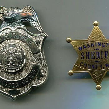 Washington County Wisc. Presentation Badge - Medals Pins and Badges
