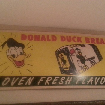 Donald Duck bread sign - Signs