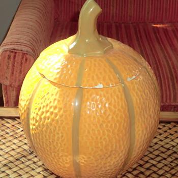 Ceramic Pumpkin Cookie Jar - Kitchen