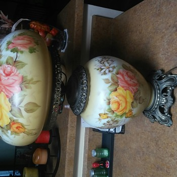 Pair of Hand Painted Lamps