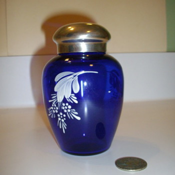 Cobalt Blue Glass Urn, Cremation? - Tobacciana