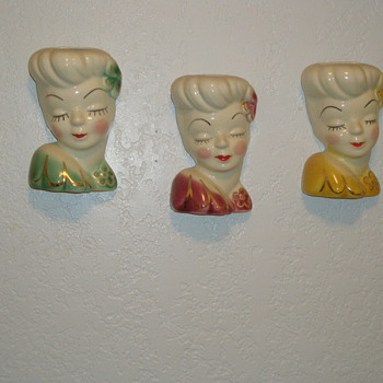 Glamour Girl Head Vase - Pottery