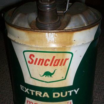 Vintage Sinclair Motor Oil 5 Gallon Can - Petroliana