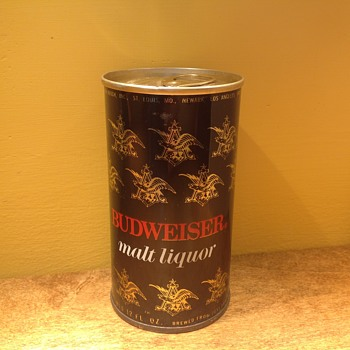 Budweiser flat top can - Breweriana