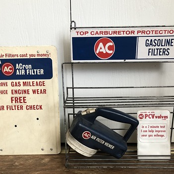 AC Delco shelf advertisement and flashlight - Advertising