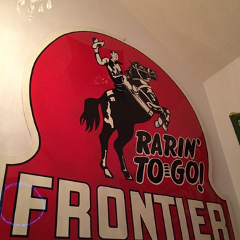 Frontier Gasoline Sign - Advertising