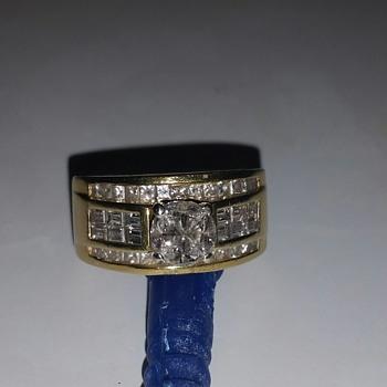 Two tone 18 kt diamond ring UNIQUE - Fine Jewelry