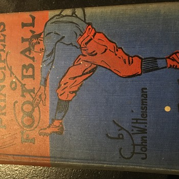 Autographed copy of John Heisman's Principals of Football. - Football