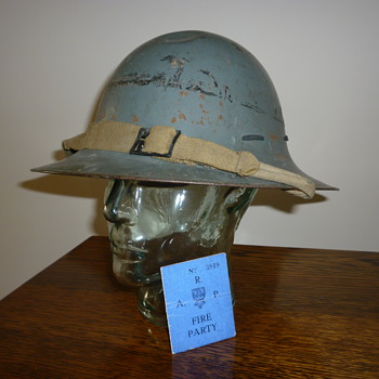 British WWII Zuckerman Civil Defence helmet 1941