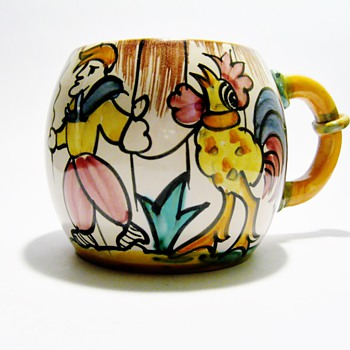 VINTAGE ITALIAN MUG / DATES 1930-1950 - Pottery