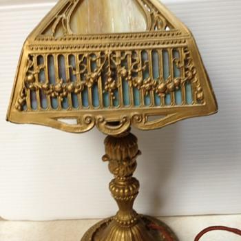 small slag? glass lamp