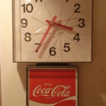 60's Coca Cola Wall Clock