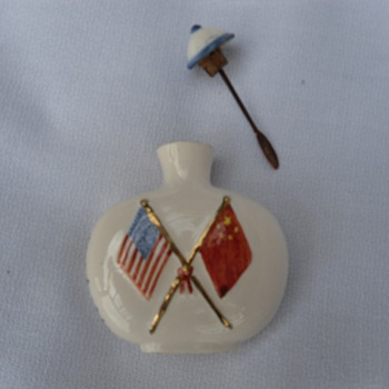 President Nixon & Chairman Mao Snuff Bottle - 1972 - Asian