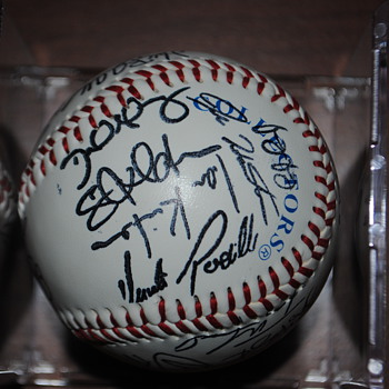 Baseball with Unknown Autographs - Baseball