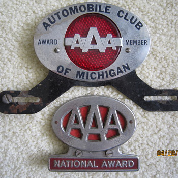 AAA Michigan License Plate Toppers National Award - Signs