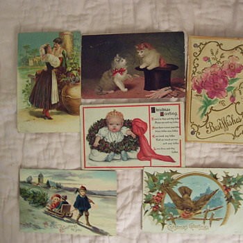 COLLECTING VINTAGE PAPER ITEMS--THEIR ENEMY--SCRAPBOOKING !(See 4 photos) - Postcards