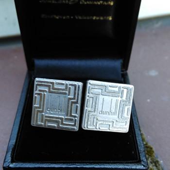 Original Alfred Dunhill 925 Silver Cufflinks - Fine Jewelry