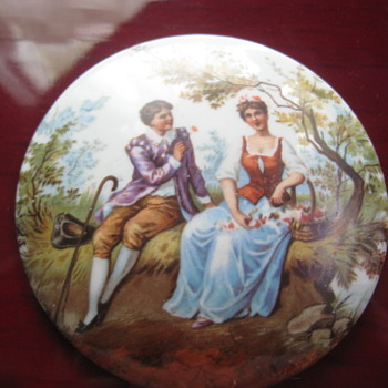 NEED ID - Victorian Courting Couple Porcelain Marked M.C. CO. 1200 N - Pottery