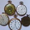 Small collection of old pocket watches & 1941-46 calendar