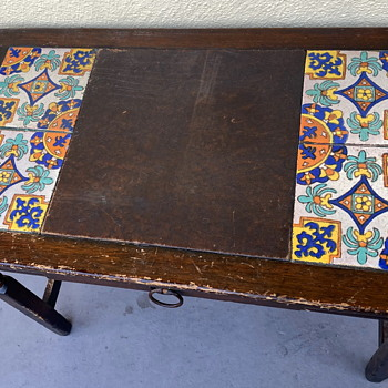 Angelus Furniture Co. Desk with Inlaid Hispano Moresque Tiles - Pottery