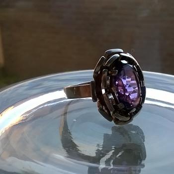 .800 Silver & Amethyst Ring, Flea Market Find, $1.50 -What's That Mark? Sri Lanka? - Fine Jewelry