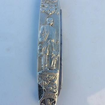 Vintage silver Jack Knife from World War One with Otto von Bismarck
