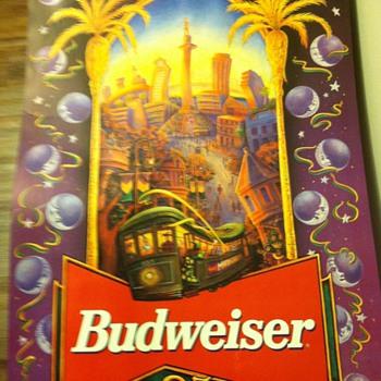 Mardi Gras Poster 1995 - Breweriana