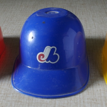 Three Vintage Dairy Queen Batting Helmets... - Baseball