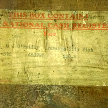National Cash Register CO. shipping crate