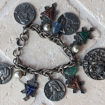 Religious Charm Bracelet Wondering Possible Age and Significance - Fine Jewelry