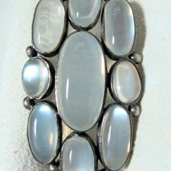 Art Nouveau Moonstone Brooch - Fine Jewelry