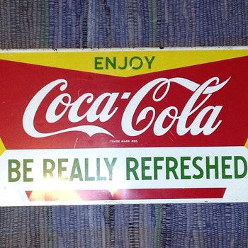 "11"" x 45"" Metal Coke Sign - Coca-Cola"