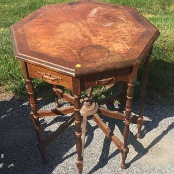 Barn Find Old Table, 8-legs No Markings to ID, Any Help Age or Mfg. - Furniture