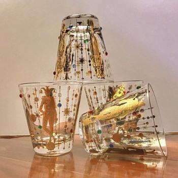 Mardi Gras Culver Glass History Vintage Barware & Glassware - Glassware