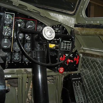 Inside a B-17 Bomber at the Palm Springs Air Museum Interior View - Military and Wartime