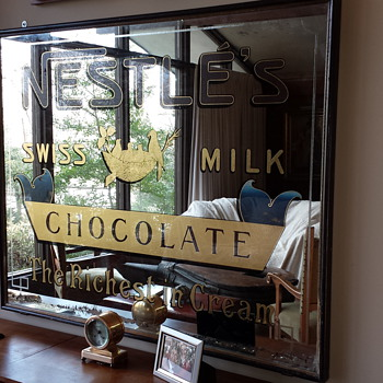 Antique Nestles Milk Chocolate Mirror - Advertising