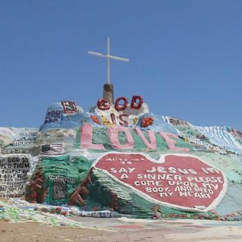 Salvation Island Salton Sea Roadside Attraction - Photographs