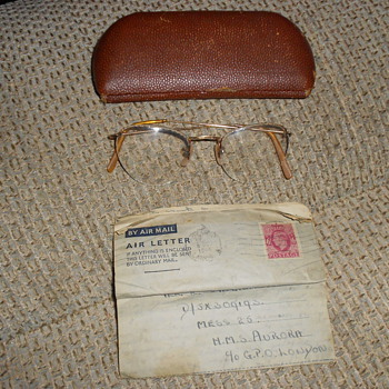 ww2 hms aurora love letter to mr E.singleton from miss I.riding.