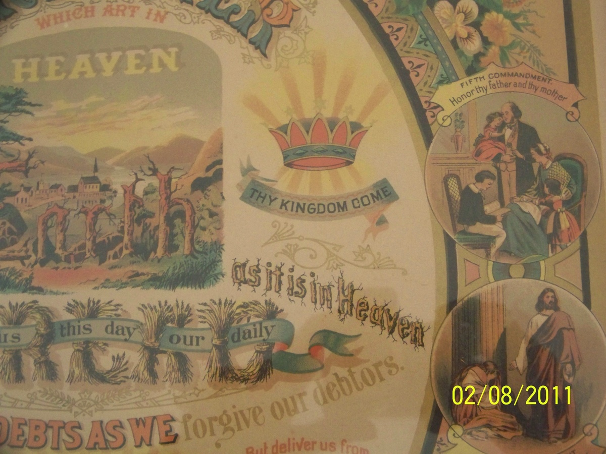 ten commandments pic with the lords prayer cw 1883 collectors