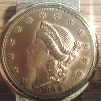1854 kellogg & co coin - Gold