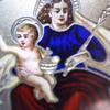 Religious Art Enameled Gilt (Vermeil) Brooch