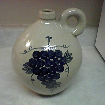 LARGE STONEWARE WINE JUG - Pottery