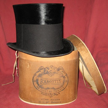 Victorian Era Silk Mourning Top Hat - Hats