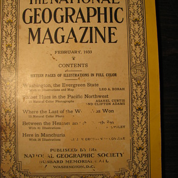 1933 National Geographic - Paper