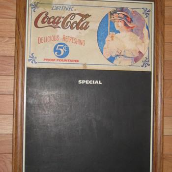 COCA COLA CHALKBOARD MENU SIGN 5 CENTS - Coca-Cola